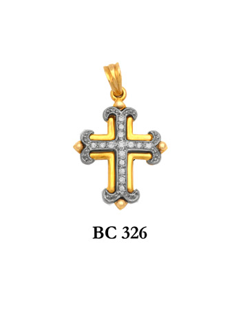 18K Yellow Gold Crosses Styles